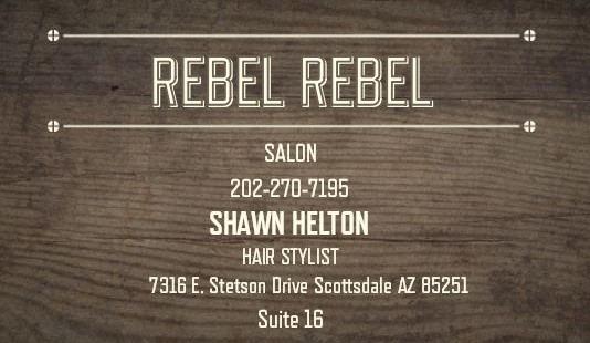dig scottsdale rebel rebel salon sign